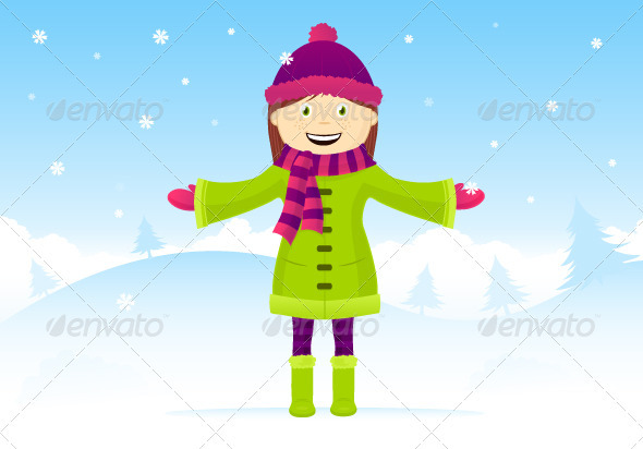 Girl In Snow - Seasons/Holidays Conceptual