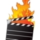 Clapboard in Fire - GraphicRiver Item for Sale