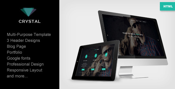 Crystal - Responsive Multipurpose Template - Creative Site Templates