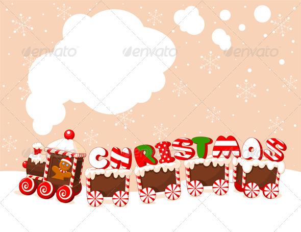 Christmas Train Background - Christmas Seasons/Holidays