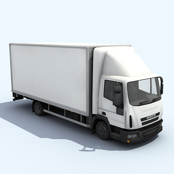Medium Size Truck - 3DOcean Item for Sale