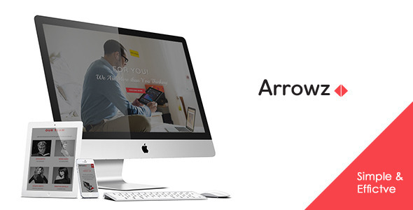 Arrowz - Minimal One Page Parallax Theme - Creative Site Templates