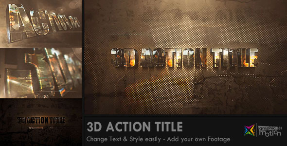 Videohive 3D Action Title Opener 7908643