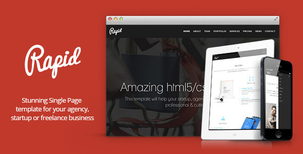 Rapid - One Page Multipurpose Template - Creative Site Templates