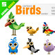 Cartoon Bird Set - GraphicRiver Item for Sale