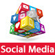 Social Media Concept - 3D Icons - GraphicRiver Item for Sale