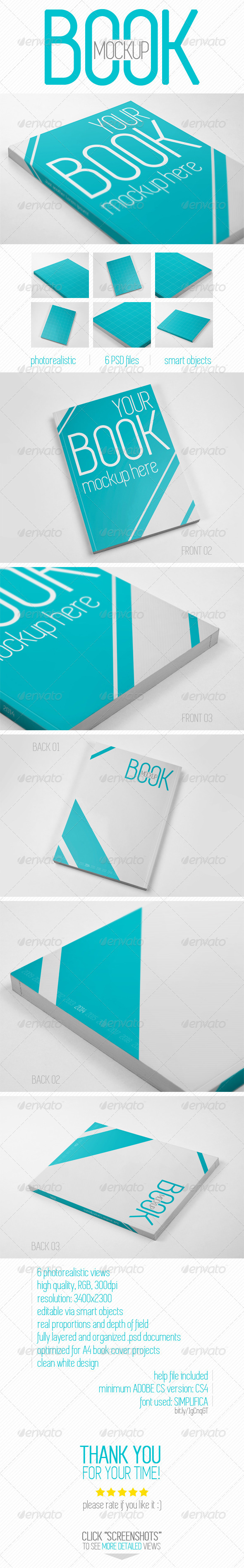 Book Cover Graphicriver : Book cover mockup by krzysztofbobrowicz graphicriver