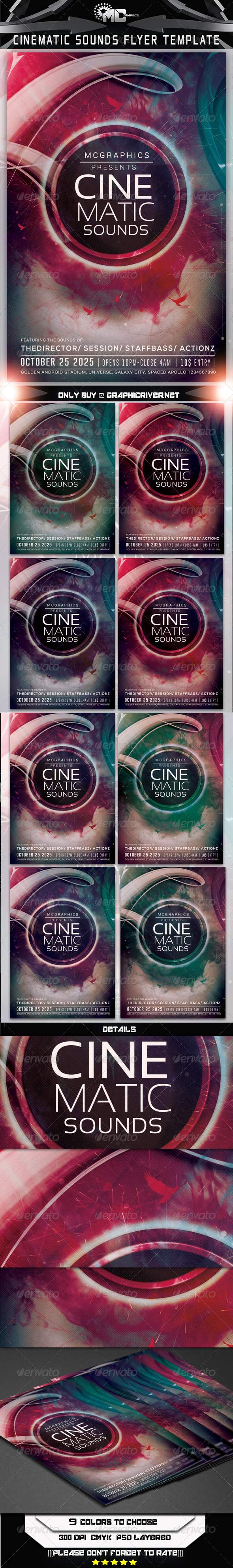 Cinematic Sounds Flyer Template - Flyers Print Templates