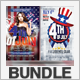 Fourth of July Party Flyer Bundle - GraphicRiver Item for Sale