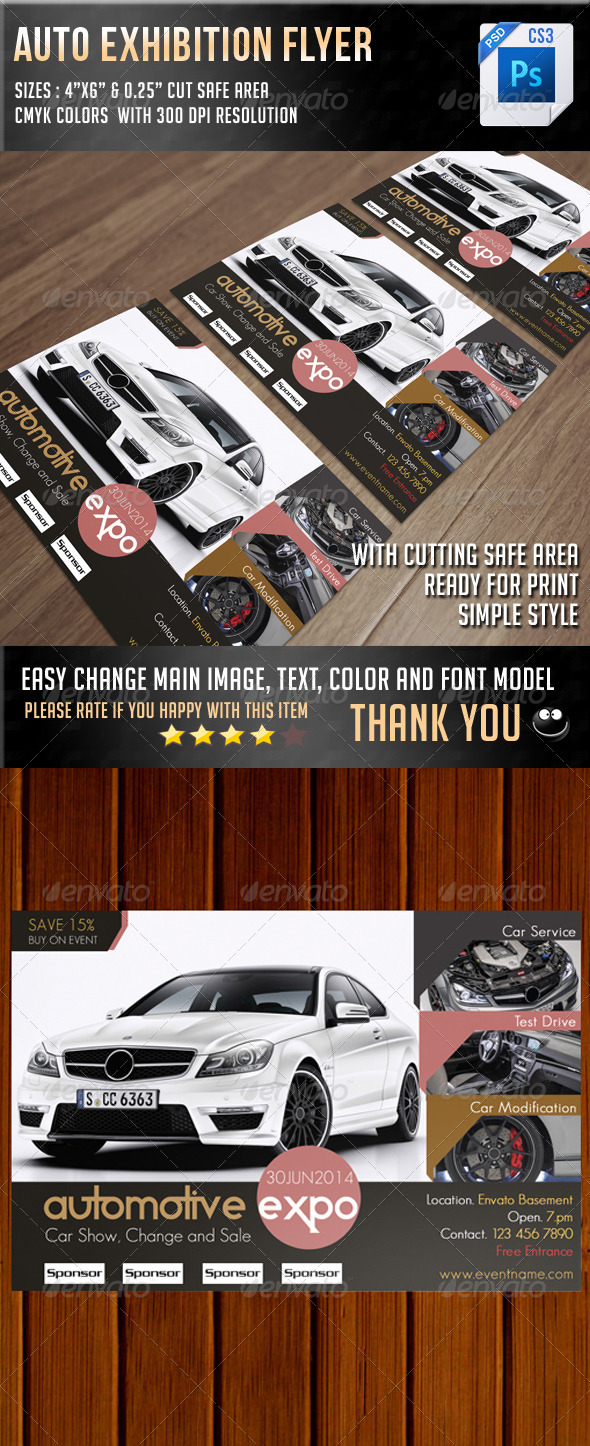 Auto Exhibition Flyer V10 - Commerce Flyers