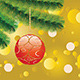 Red Christmas Ball on Branch   - GraphicRiver Item for Sale