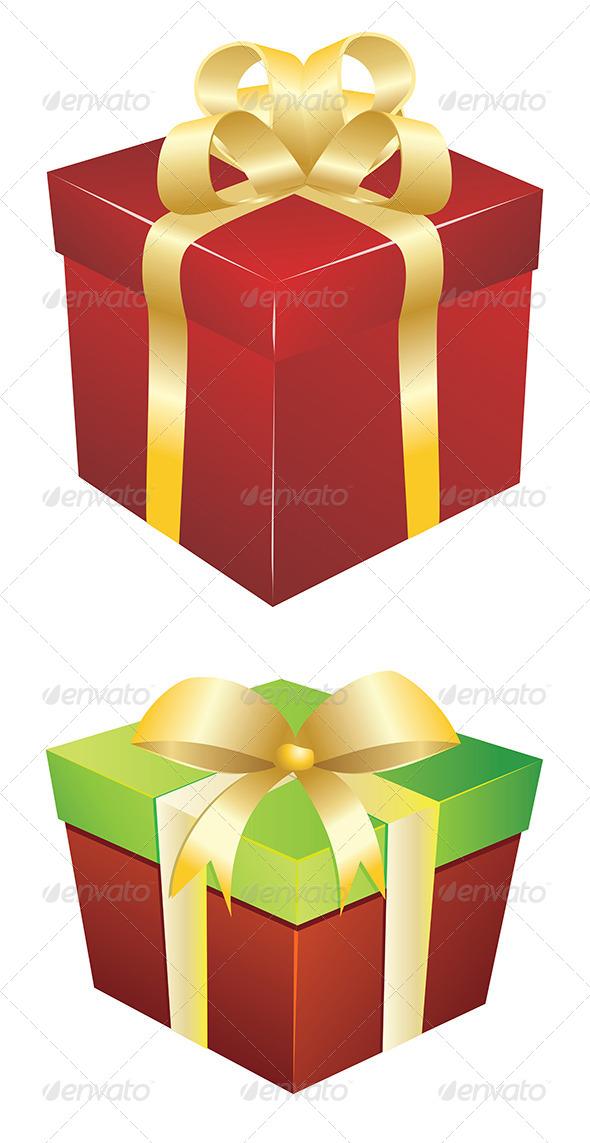 Red Gift Box   - Christmas Seasons/Holidays