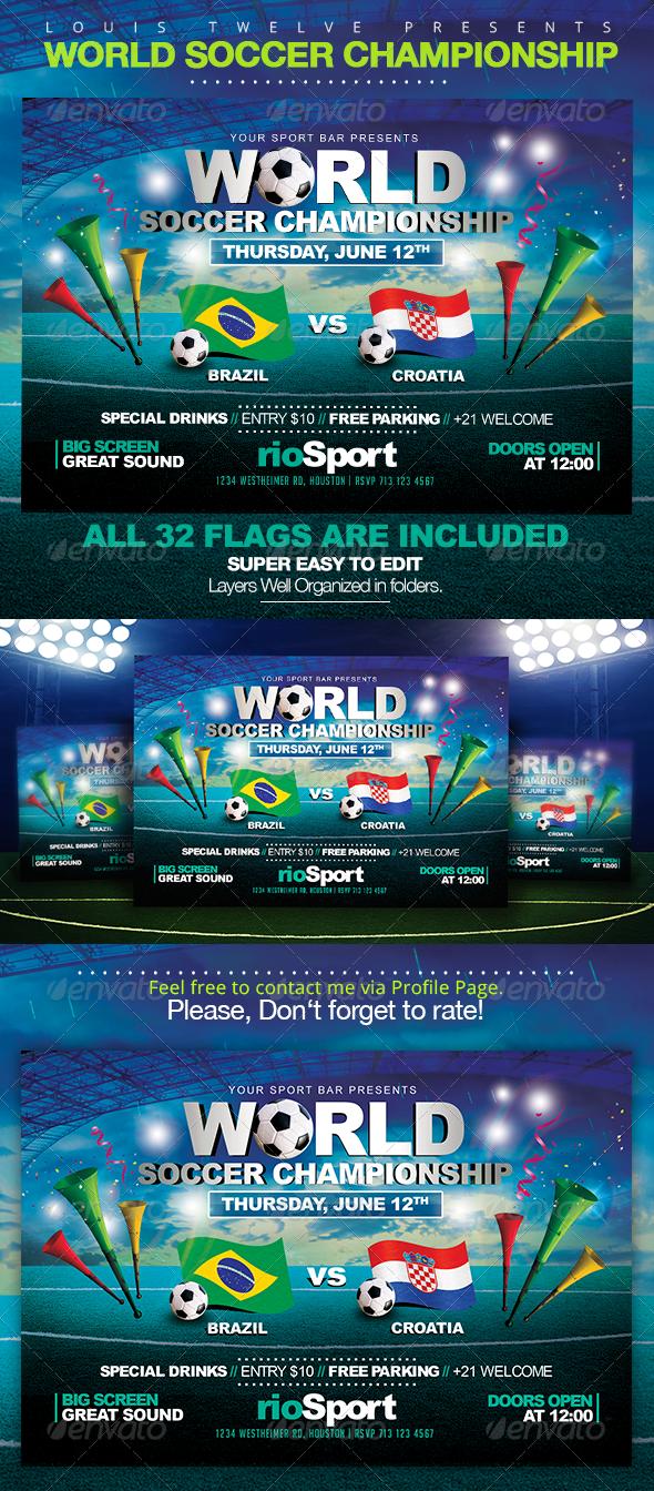 World Championship 2014 | Horizontal Flyer - Sports Events