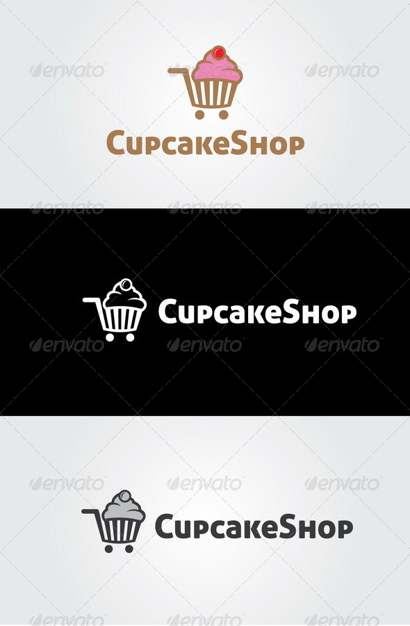 Cupcake Shop Logo  - Food Logo Templates