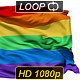 Isolated Waving Gay Rainbow Flag - VideoHive Item for Sale