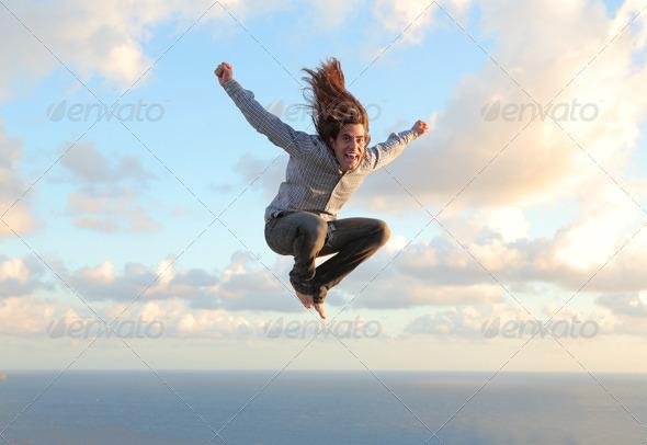 jumping man - Stock Photo - Images