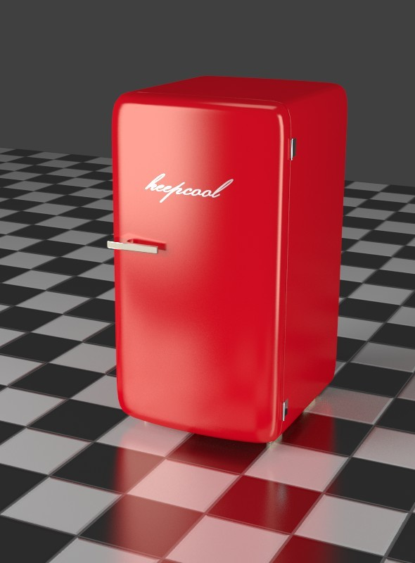 Red Refrigerator - 3DOcean Item for Sale