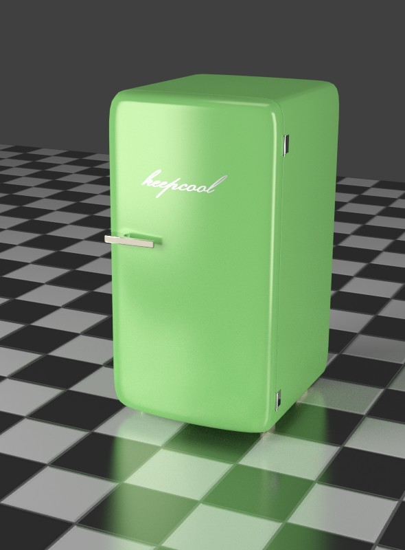 Green Refrigerator - 3DOcean Item for Sale