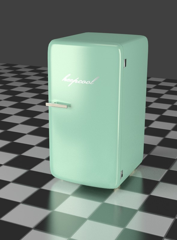 Mint Refrigerator - 3DOcean Item for Sale