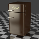 Fridge Freezer Combi brown
