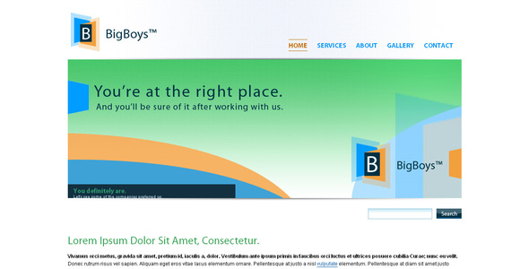 BigBoys Corporate Template - Corporate Site Templates