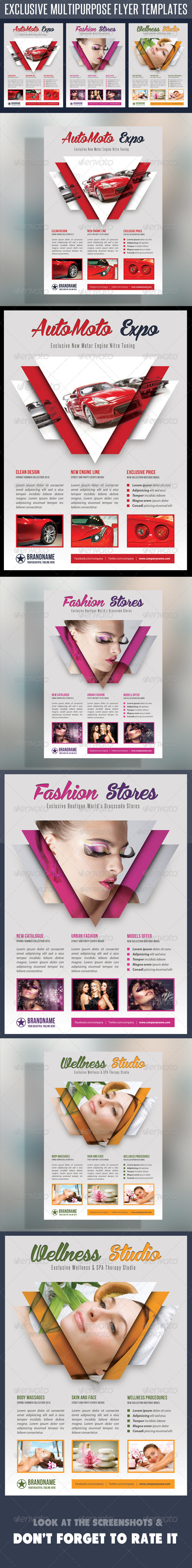 Multipurpose Product Flyer V04 - Flyers Print Templates