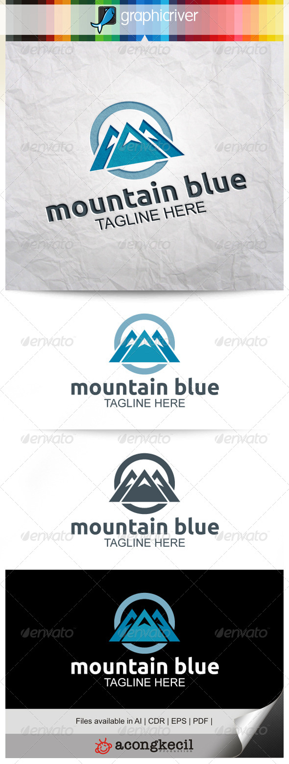 Mountain Blue - Nature Logo Templates