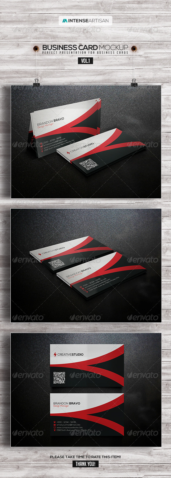 Business Card Mockup V.1 - Business Cards Print