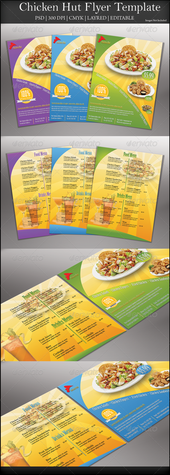 Chicken Hut Flyer - Restaurant Flyers