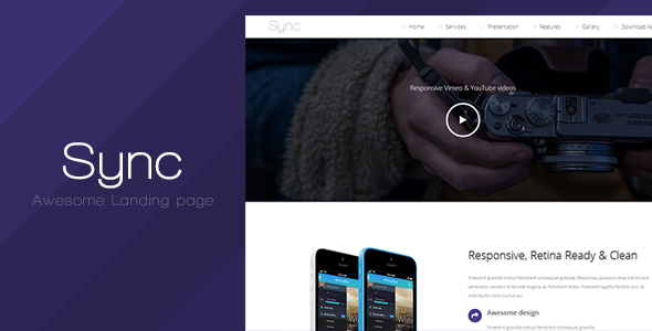 Sync – Responsive Landing Page