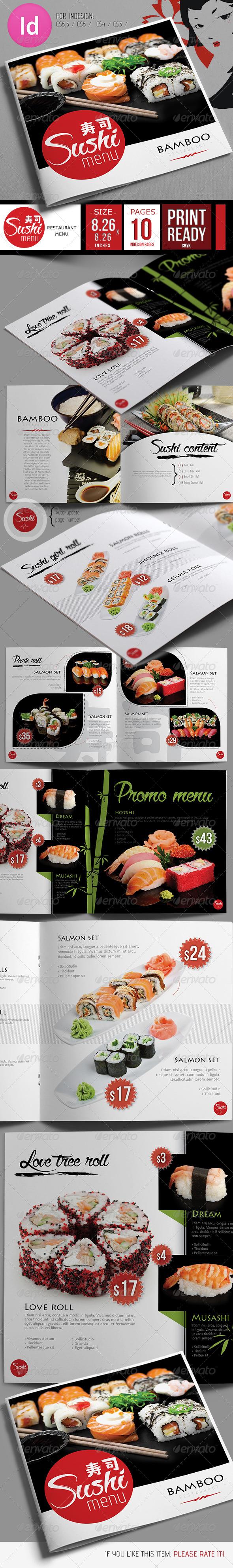 Fresh Sushi Restaurant Menu
