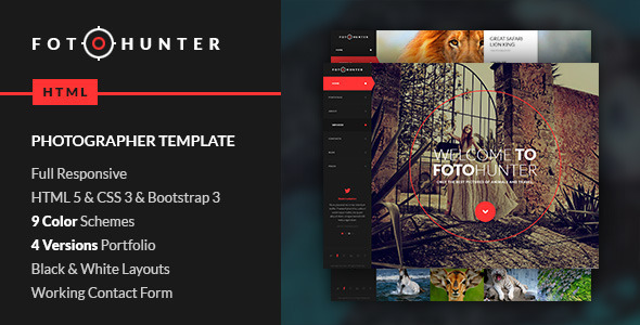 FotoHunter - Creative Photographer Template