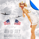 July 4 Independence Day Minimal Flyer Template