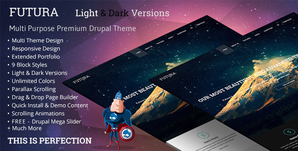 Image of Futura, MultiPurpose Creative Drupal Theme
