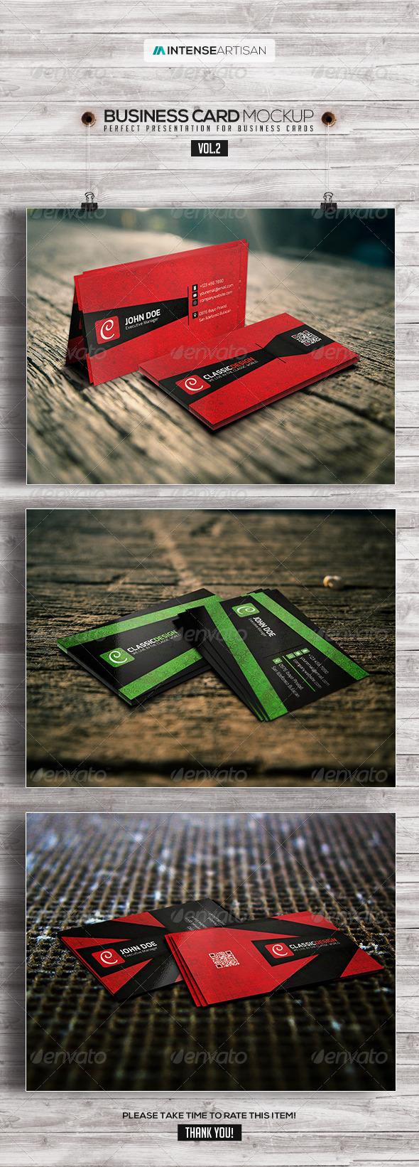 Business Card Mockup V.2 - Business Cards Print