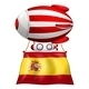 A Floating Balloon with the Flag of Spain