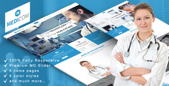 Medicom – Medical & Health Drupal Ubercart Theme