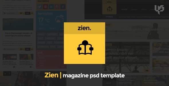 Zien | Magazine PSD Template - PSD Templates
