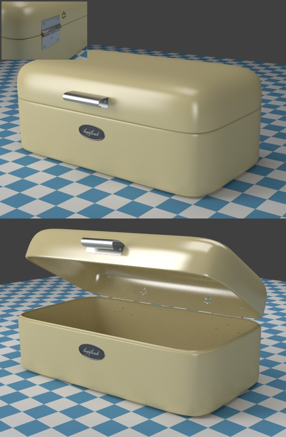Breadbox oldwhite - 3DOcean Item for Sale