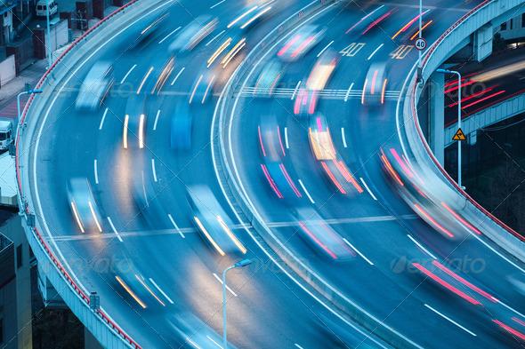 curve lanes closeup - Stock Photo - Images