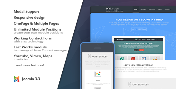 MYDesign :: Onepage Flat Joomla! Template - Corporate Joomla