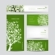 Business Cards Design Spring Tree with Birds - GraphicRiver Item for Sale