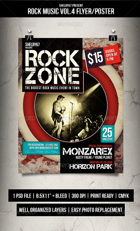 Rock Music Flyer / Poster Vol.4 - Events Flyers