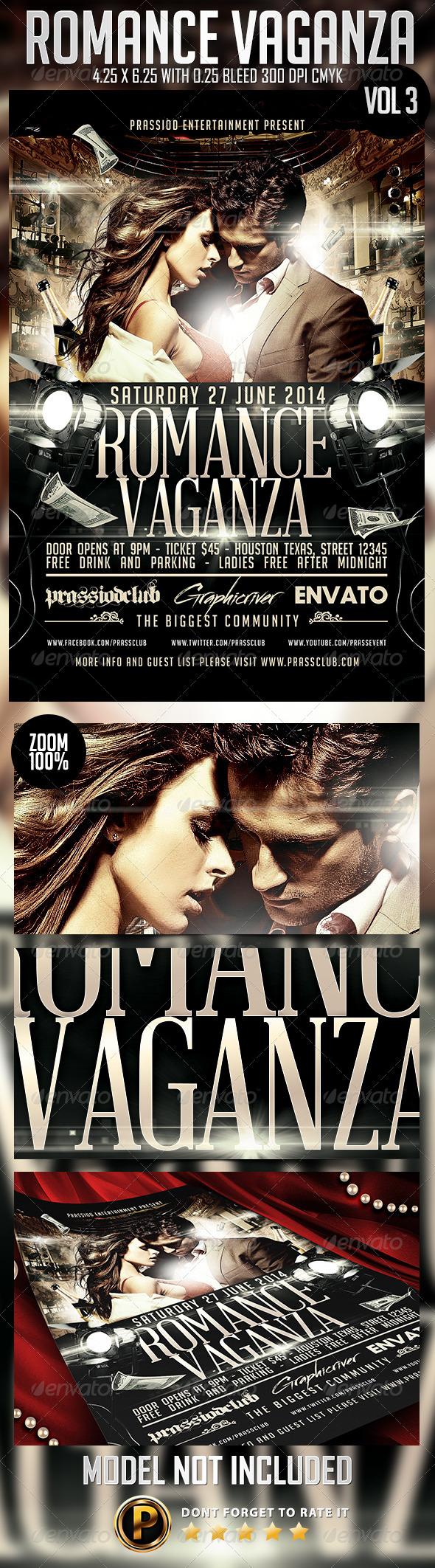 Romance Vaganza Flyer Template Vol 3 - Clubs & Parties Events