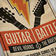 Guitar Battle - Music Flyer/Poster - GraphicRiver Item for Sale