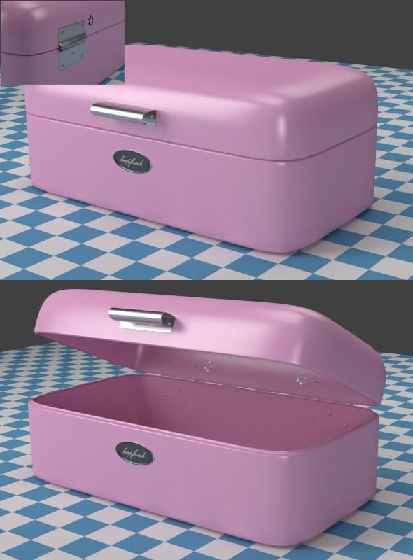Breadbox pink - 3DOcean Item for Sale
