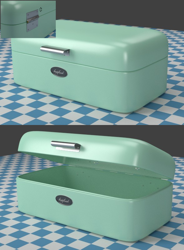 Breadbox mint - 3DOcean Item for Sale