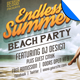 Endless Summer Beach Party Flyer Template