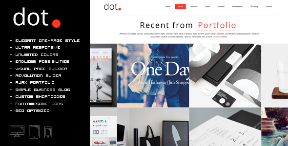 DOT - Creative One Page Multi-Purpose Theme - Creative WordPress