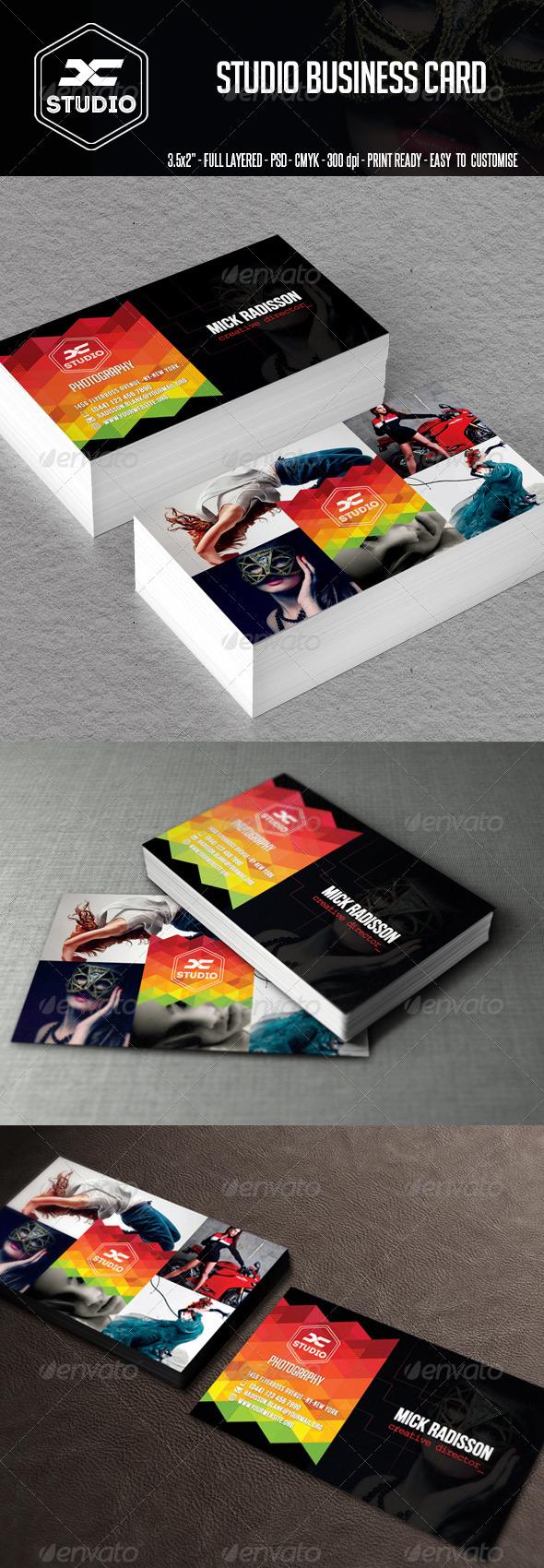 Studio Business Card - Creative Business Cards